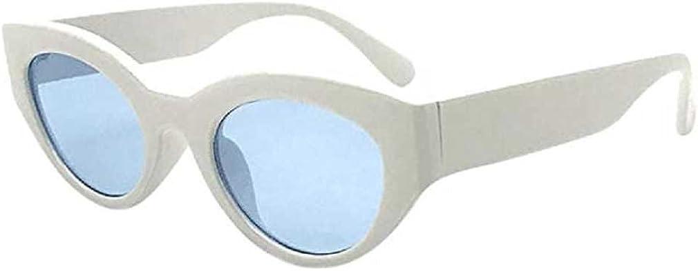 Occhiali,Fittingran Donna Occhiali da Sole di Gatto Vintage retr/ò Eyewear Peso Occhiali Unisex Occhiali da Sole Rapper Ovale Ombre Grunge Occhiali
