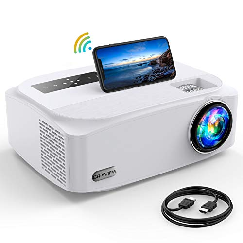 5G WFi Projector, GROVIEW 8500L Full HD Native 1080P Projector Synchronize Smartphone Screen, Max 300' Display , 4K Video Support, Compatible with TV Stick/HDMI/PS4/DVD Player/AV for Outdoor Movie