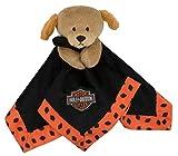 Harley-Davidson Cuddles 14 in. Plush Blanket Pup, Black & Orange 9950831