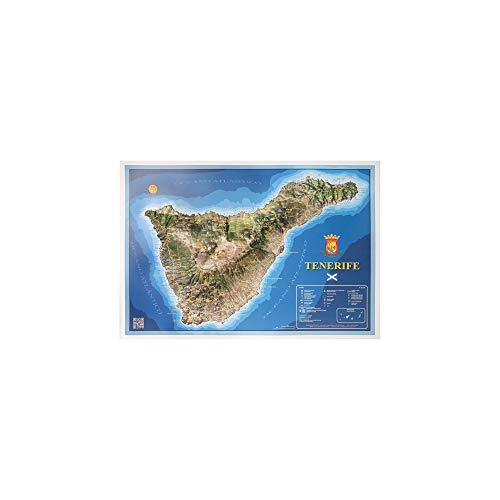 Mapa en relieve de Tenerife: Escala 1:130.000