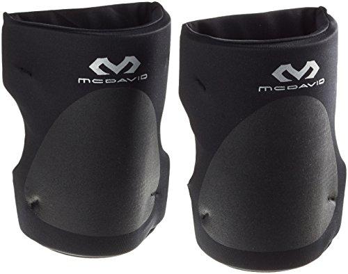 McDavid Knieschüchter Set mit Offene Rückseite für größere Bewegungsfreiheit - für Damen und Herren - schwarz, M (35-38 cm)