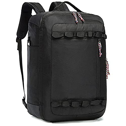 TRAILKICKER 48L Travel Backpack Flight Approved Carry On Backpack Water Resistant Weekender Bag for Men & Women Business Executive (48L, BLACK)