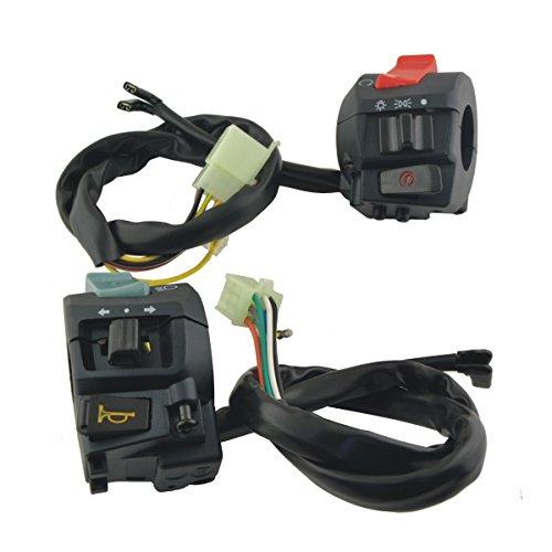 FOORDAY Botón de Interruptor de luz Delantera para Motor, 1 par MP-1504254 12 V, Interruptor de Montaje para Manillar de Motocicleta para Faro Delantero LED