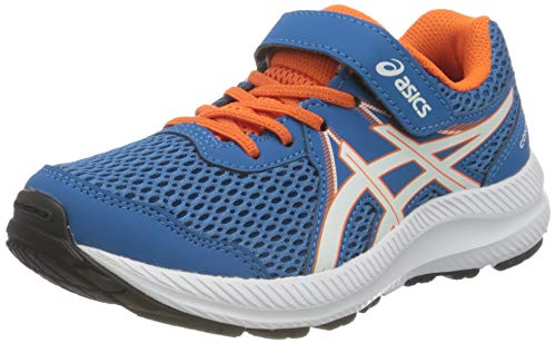 ASICS Contend 7 PS Road Running Shoe, Reborn Blue/White, 33 EU