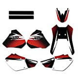 Pegatinas Moto Antecedentes de la Motocicleta Gráficos Adhesivos Kit de Pegatinas for Honda XR250 XR400 1996 1997 1998 1999 2000 2001 2002 2003 2004 250 400 XR (Color : Red)