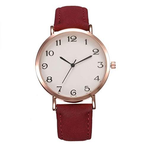 SoonerQuicker Uhr Armbanduhr Quartzuhr Frauen Uhren Mode Damenuhr Armbanduhren Analoge Quarz Lederband Wasserdicht Billig Geschäft Geschenke, Geschenke Für Frauen-26