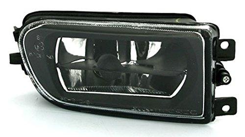 AD Tuning Phare antibrouillard, Verre Transparent Noir, côté Droit, côté Passager.