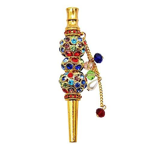 LiRuiMingHome Cachimba portátil de cristal cachimba shisha cachimba boquilla con diamantes, adornos hechos a mano de diamante, boquilla, tubo, accesorios de cachimba
