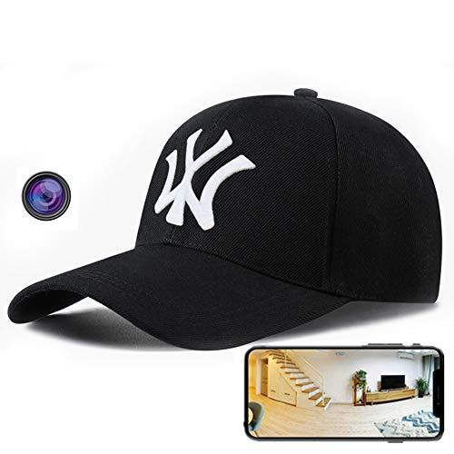 GEQWE Sombrero De Cámara Oculta 4K HD, Deportes Al Aire Libre, Sombrero Negro, Cubierta De Cámara, Control Remoto Inalámbrico Multifunción, Video Oculto, para Exteriores En Interiores