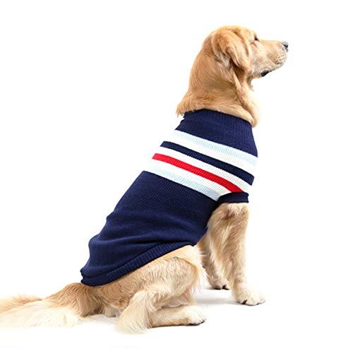 Felpa Cane,Idefair Cappotto Cane Inverno Caldo Maglieria Vestiti per Cani e Gatto di Taglia Medio Piccola (XL, Blu)