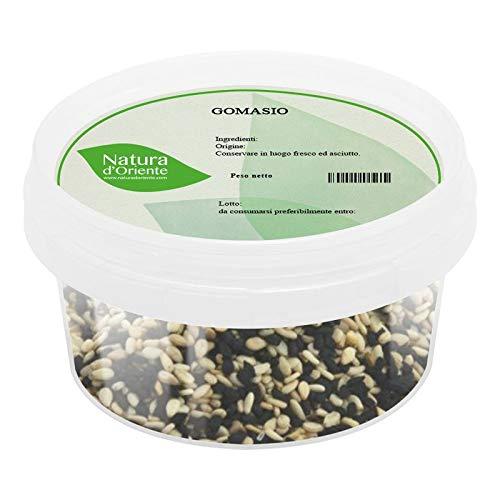 NATURA D ORIENTE - Gomasio in semi 250g | Mix di sesamo bianco e nero con sale integrale | Ottimo per insalate e panature