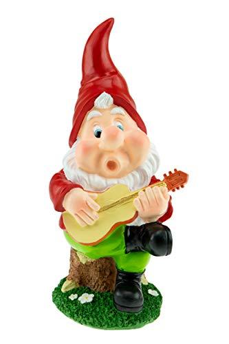 Clever Creations - Gartenzwerg - witzige Deko für den Rasen, das Zuhause, den Garten oder im Büro - Gartenzwerg mit Gitarre