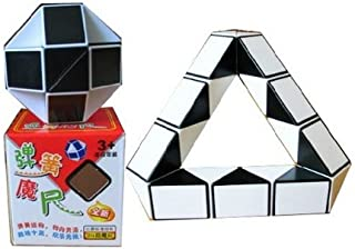 Starabu LanLan Puzzle 15-Inch Snake Magic Ruler Cube Black/White