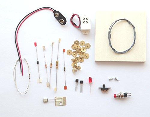 REC electronic AlarmanlageBausatzauf Holzbrettchen zum Selberbauen