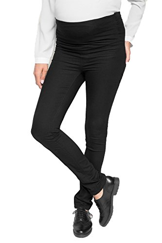 Love2Wait Damen Pants Sophia Superstretch Plus Umstandsjeans, Schwarz (Black 004), W44/L34 (Herstellergröße:44)