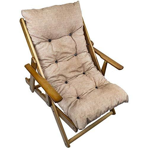 MAURY'S Poltrona Sdraio Harmony Relax Comodona in Legno 90 x 73 x 100h cm 3 Posizioni con Cuscino Imbottito (Ercu)