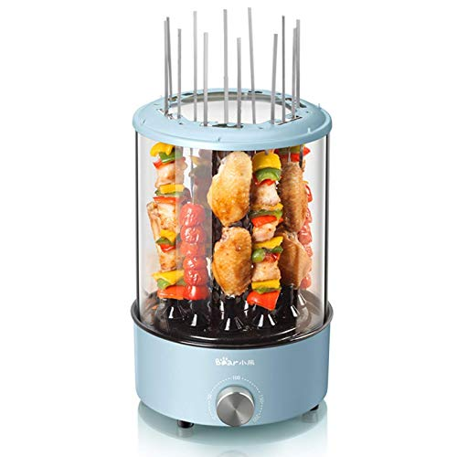 DFBGL Máquina de cocción de Olla Caliente eléctrica portátil para el hogar, Barbacoa eléctrica, Barbacoa Kebab Makers Brocheta de Pollo/bistec/Carne/maíz Parrillas para Asar girato