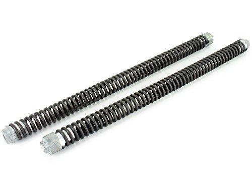 SET- 2x maximal verstärkte Druckfeder 3,6mm - inkl. 4x montierten + modifizierten Federaufnahmen - Sonderanfertigung für SIMSON-Telegabel