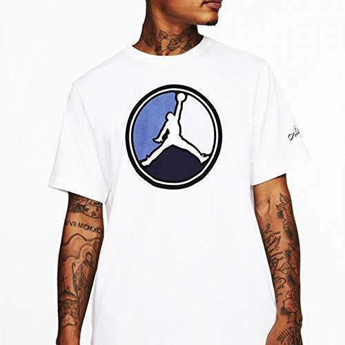 NIKE M J Remastered Hbr Crew Short Sleeve T-Shirt, Hombre,...