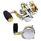 PROBEROS Jigging Pesca Carretes - Conventional Carrete - Agua Salada Pesca - Rueda de Aluminio Grande Y Profunda para Trabajo Pesado