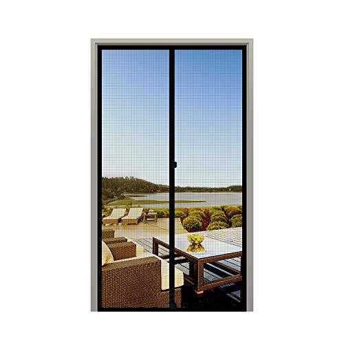 MAGZO Screen Door Magnets Fit Door Size 30 x 80, Durable Fiberglass Door Mesh with Full Frame Hook&Loop for Entry Door-Black