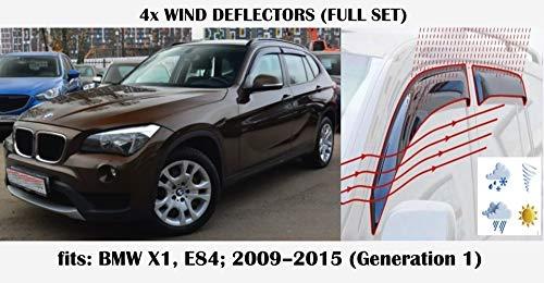 Mrp Windabweiser für BMW X1 Serie E84 E84 5-Türer SUV 2009 2010 2011 2012 2013 2014 2015 Acrylglas Seitenblenden PMMA