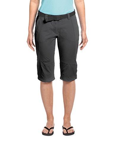 Maier Sports Multifonctions Capri kluane 90% en PA 10% EL dans 19 Tailles, Pantalon Outdoor/Pantalon de randonnée/Capri Pantalon avec Ceinture, bi-élastique, séchage Rapide et imperméable 4XL Noir