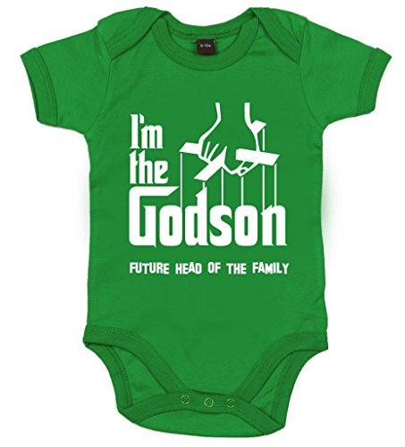 Image Vêtements bébé, I'm The Godson, Future Head of The Family, T-Shirt bébé garçon, 12-18 m, Vert