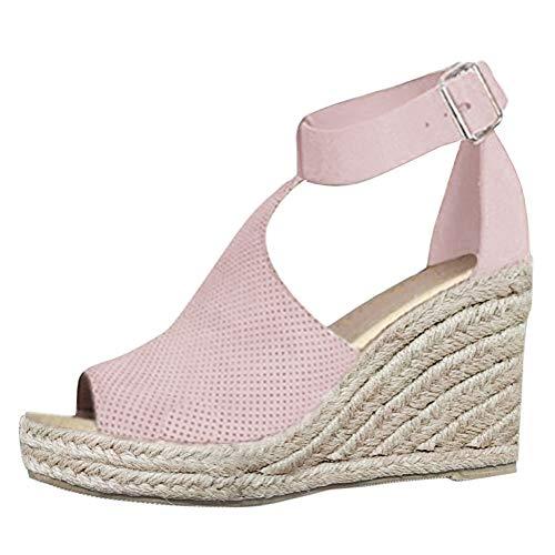 Minetom Sandali Donna Moda Fibbia Estivi Sandals Romani Shoes Traspirante Casual Scarpe Zeppa...