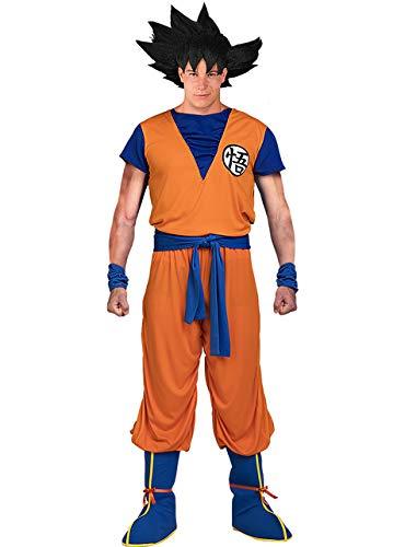 Funidelia | Disfraz de Goku - Dragon Ball Oficial para Hombre Talla L ▶ Son Goku, Bola de Dragón, Anime, Saiyan - Naranja