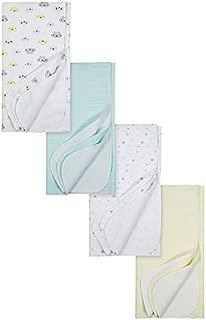 Gerber Baby 4-Pack Flannel Receiving Blanket, Clouds, 30