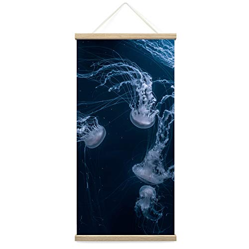 """bestdeal depot Hanging Poster Jellyfish Canvas Prints Wall Art for Living Room, Bedroom - 18""""x36"""""""