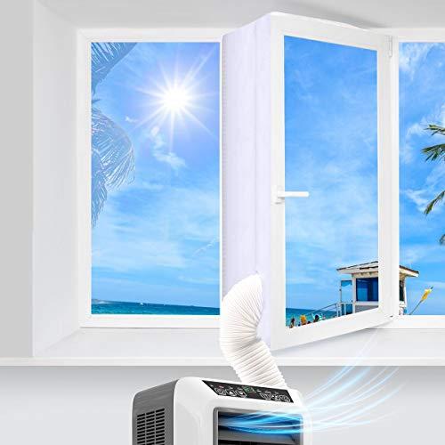 Tejido de calafateado para ventanas para aire acondicionado móvil y secadora – Funciona con todas las unidades de climatización móviles y de fácil instalación (300 cm)