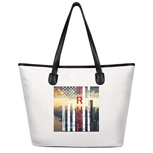 Trump 2020 Re Elect Donald Trump Flowy Women Canvas Tote Handbags Bag Designer for Diaper Bag Totes