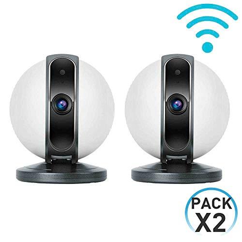 7hSevenOn Home Pack 2 Cámaras de Seguridad Inteligentes WiFi Motorizadas 360° vía Smartphone/App