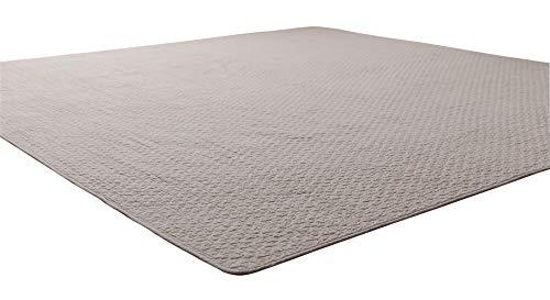 ナイスデイ マルチカバー グレー S (150×200cm) mofua (モフア) イブル 綿100% cloud柄 キルティング 洗える 低ホルム 36203913