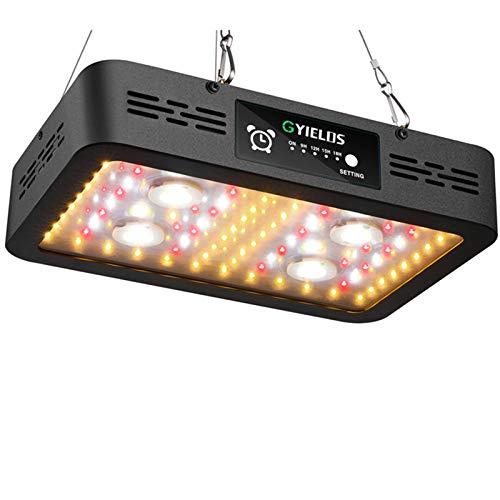 1200W Lámpara De Planta, Temporizador Sunlike Espectro Completo COB Y SMD LED Chips Lámpara De Cultivo De Invernadero Para Plantas De Interior Con Interruptor Dual