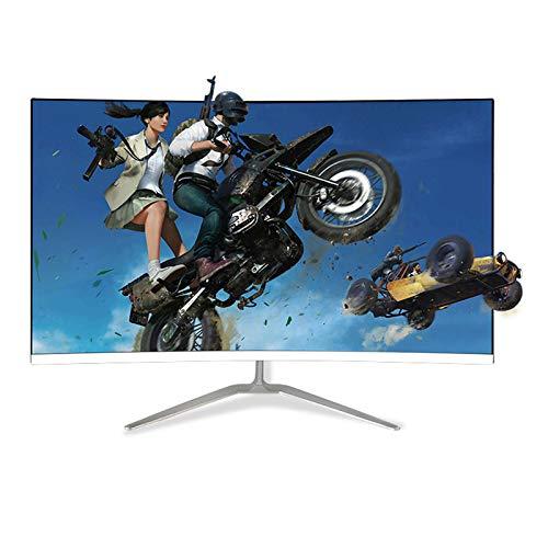 YILANJUN LCD Monitor de Juegos - 23,8'/27'/32', FHD, Pantalla Curva LED para Comercial Oficina, Full HD 1080P (1920 × 1080), 60Hz, VGA/HDMI