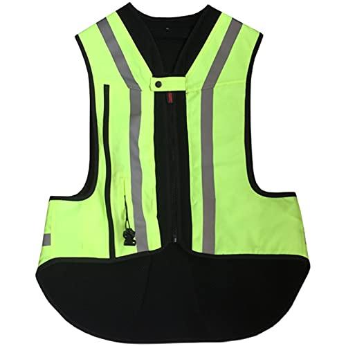 Chaleco De Ciclismo Con Airbag Para Hombre Chaleco De Moto Con Airbag Damas, Niños Ecuestres, Chalecos De Moto. (2 Colores, Sin Cartucho De CO2) Equipo de ciclismo ( Color : Green , Tamaño : XXL )