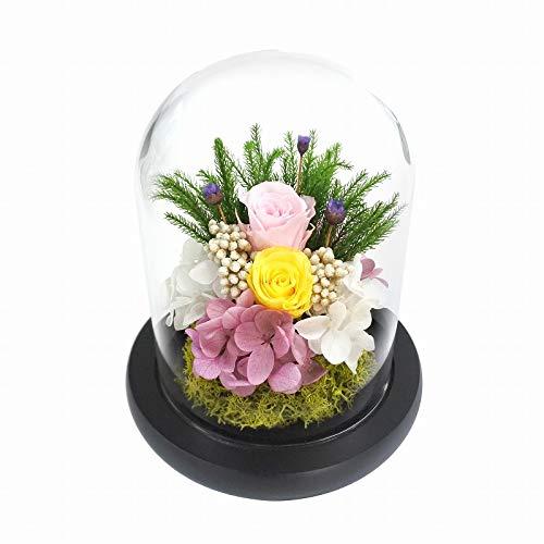 プリザーブドフラワー仏花 お供え花 お仏壇用 ガラスドームアレンジメント C25523 桃香(ももか)プリザーブドフラワー仏花