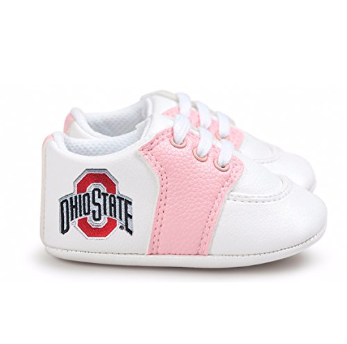Future Tailgater Ohio State Buckeye Pre-Walker Baby Shoes - Pink Trim