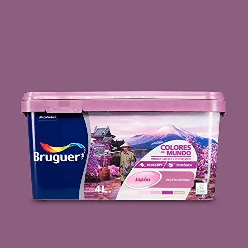 Bruguer Colores del Mundo Pintura para paredes monocapa Japón Violeta Natural 4 L