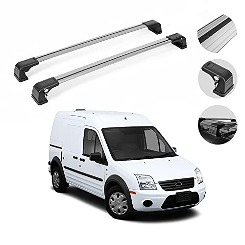 OMAC Roof Rack Cross Bar Set Fits Ford Transit Connect 2010-2013 | Lockable...