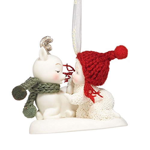Department 56 Snowbabies Celebrations Oh Deer Hanging Ornament, 2 Inch, Multicolor