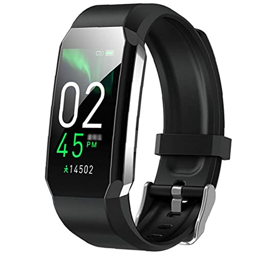 Smart Watch Pulsera Termómetro Termómetro Presión arterial Fitness Tracker Sport T3 Smart Band para hombres Mujeres Negro Equipo portátil