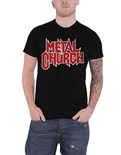Metal Church T Shirt Red Band Logo Heavy Metal Official Mens Black Size XL