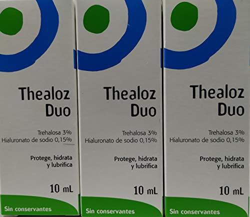 3 x Thealoz Duo Ohne konservierungsmittel 10ml für Streng Trocken Augen. NEU
