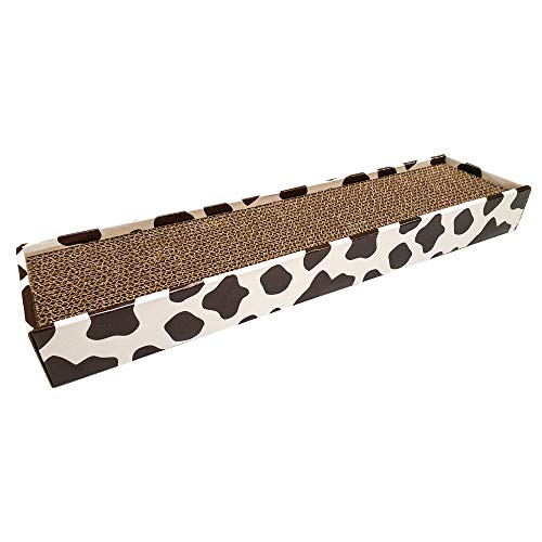 Croci Tiragraffi in Cartone Homedecor, Animalier, Cow, Misura 48X5X12,5-450