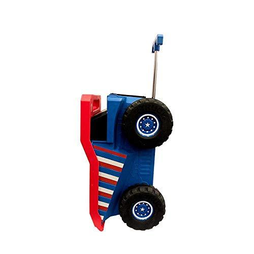 Kinderen Koffer met wielen Bigfoot engineering Car Trolley Case Carry-ons Rolling Bagage Cute Can Sit to Ride Travel Trolley, Red Leuk speelgoed voor kinderen. (Color : Red)