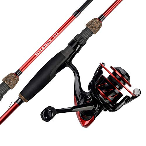 KastKing Sharky III Spinning Combos,Inshore-7ft 6in, MH Power-M Fast,5000 Reel